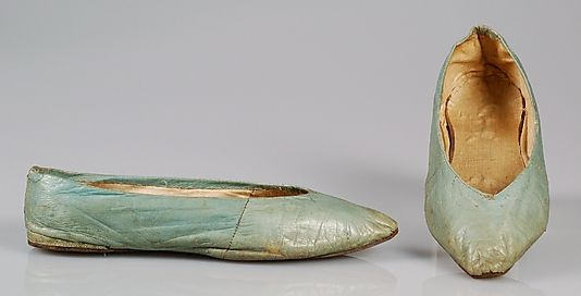 1800 - 1815 Leather Slippers