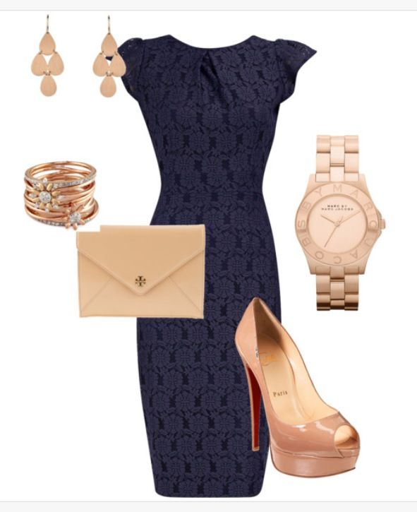 navy blue dress with gold accessories clothing the