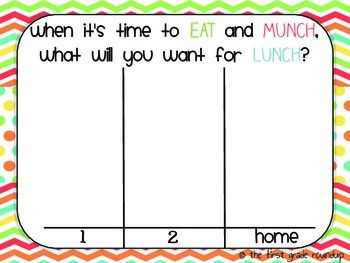 Lunch Choices Board - works on the Smartboard