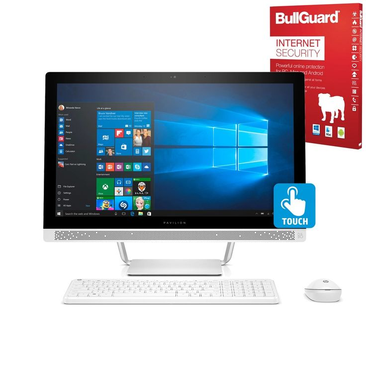 """HP Pavilion 24-b209na 23.8"""" All in One Desktop PC Deal AMD A9-9410, 8GB, 2TB HDD"""