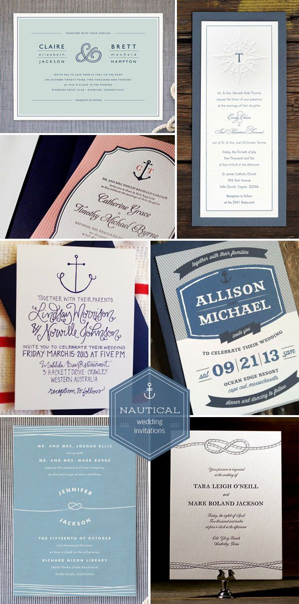 Nautical Wedding Invitations The 259 best images