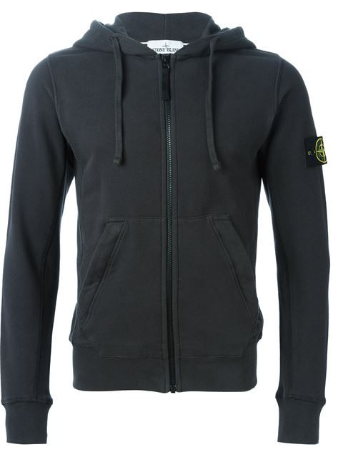 Shop Stone Island zip hoodie in Al Duca d'Aosta from the world's best independent boutiques at farfetch.com. Shop 300 boutiques at one address.