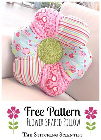 Flower Shaped Pillow Hugsandstiches Pinterest Sewing Adorable Pillow Sewing Patterns