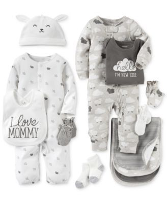 Carter's Baby Boys' or Baby Girls' Neutral Little Lamb Clothing Sets, Coveralls, Burb Cloths & Mitts