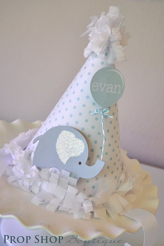 Little Elephant Birthday Hat Special Occasion by propshopboutique, $28.00