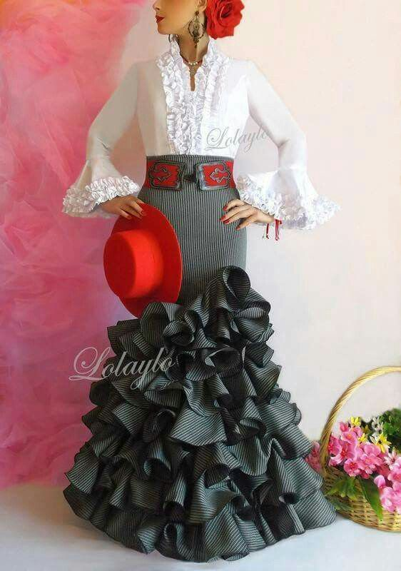 Flamenco dress from Spain. Salsa has nothing to do with this beautiful dress.