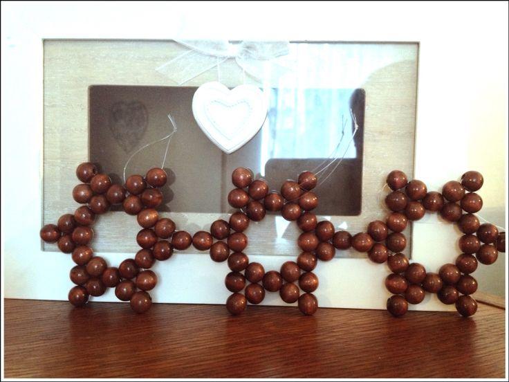 Hvězdičky z dřevěných korálků :)