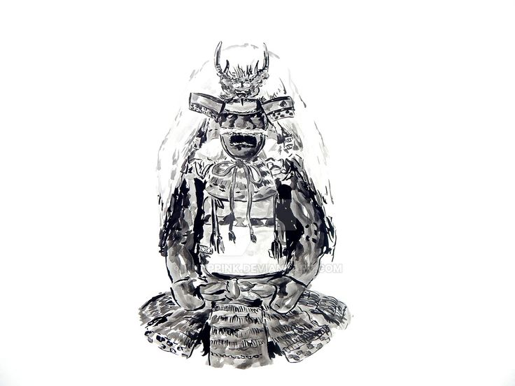 The Armor of Takeda Shingen in Sumi-e Painted by m by KnappInk