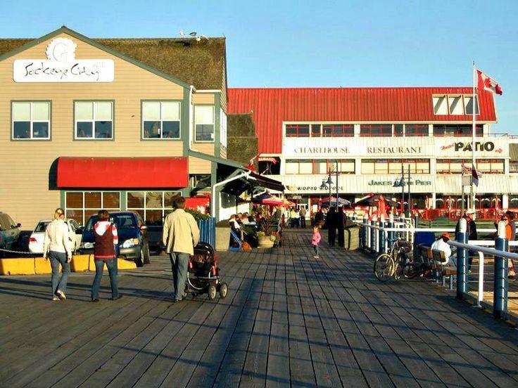Shops on the Pier in Steveston Village in Richmond BC