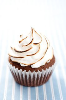Brownie Cupcakes with Marshmallow Frosting by Cooking Classy