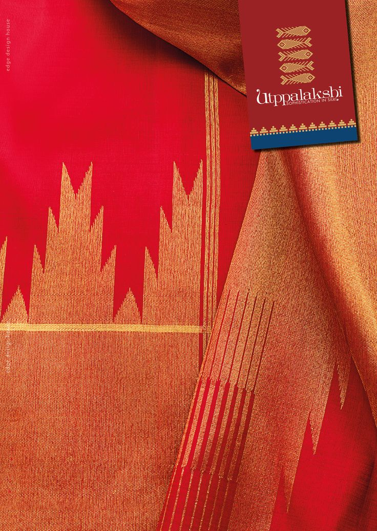 Sun kissed. And revealing in it. The charismatic red raring to do what it does best. Paint the town red. Statuesque gold zari work reigns the border & pallu. Temple border motif is the perfect finish to this flamboyant saree.#Utppalakshi #Sareeoftheday#Silksaree#Kancheevaramsilksaree#Kanchipuramsilks #Ethinc#Indian #traditional #dress#wedding #silk #saree#craftsmanship #weaving#Chennai #boutique #vibrant#exquisit #pure #weddingsaree#sareedesign #colorful #elite