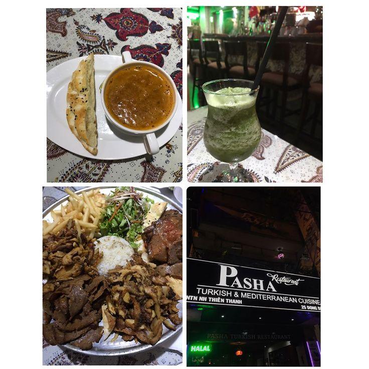 ベトナムで世界三大料理はいかがでしょうか?�������� 夫の誕生日にトルコ料理『 PASHA 』でお祝いをしました�� 『 PASHA 』お気に入りポイント❗️リーズナブルなのに… 1. 店員さんが優しくてとても親切。 2. 清潔。 3. 美味しくて食べやすい。 4. ボリュームがある。 5. 深夜2時まで営業。 6. アクセスしやすい場所。(シェラトンホテルの近く) 7.  ゆっくり食事ができる。 8. メニュー英語、写真付き。  安いお店で店員さんが親切って、意外と少ないんです�� リピ決定��写真のケバブプレート520,000VND(約2,600円)だけでも、お肉づくしでお腹いっぱいです��フレッシュミントジュースも爽やかで飲みやすい�� いつもは食事が終わるとそのまま家に帰るか、カフェに移動するのですが、こちらのお店の雰囲気が気に入ってお茶までゆっくり過ごしました。店内もエキゾチックで素敵です������ ・ 住所 :  25 Đông Du, Bến Nghé, Quận 1, Hồ Chí Minh ( デリバリーもやってます。) HP…