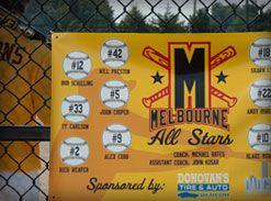 All Star Baseball Banner With Baseballs Names Sponsor