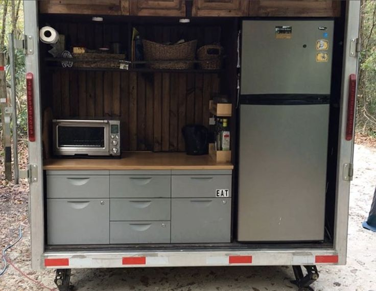 25 best ideas about cargo trailer camper on pinterest for Camper trailer kitchen designs
