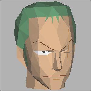 ワンピース・ゾロの展開図 似顔絵 無料 ダウンロード ペーパークラフトファン