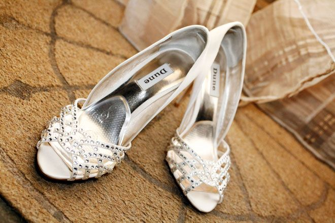 Dune wedding shoes at a Rivervale Barn wedding | www.allabouttheimage.co.uk