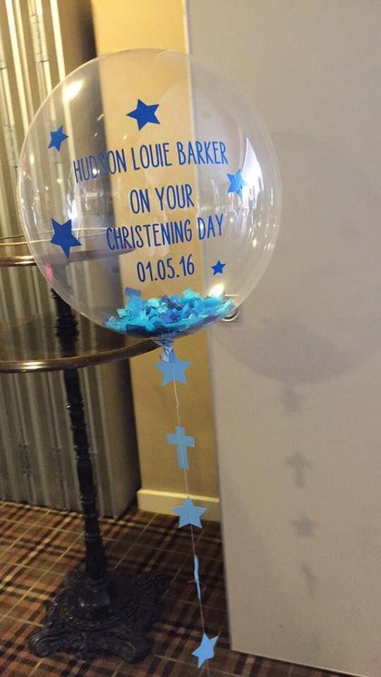 Christening bubble balloon 9 best Confetti bubble