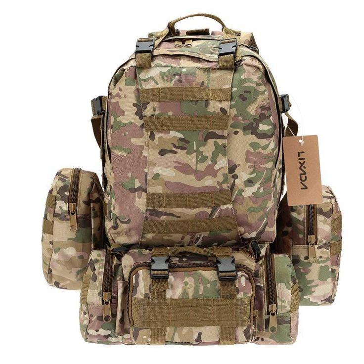 50L Outdoor Camo Tactical Hiking/Camping Rucksack #CrossbowTactical
