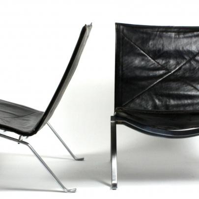 Poul Kjærholm | A pair of PK22 | Galleri Feldt - Danish Modern |