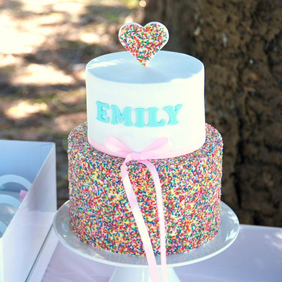 Rainbow Sprinkle Cake, First Birthday Cake, Noosa Sunshine Coast Cake Shop, Made to Order with Delivery