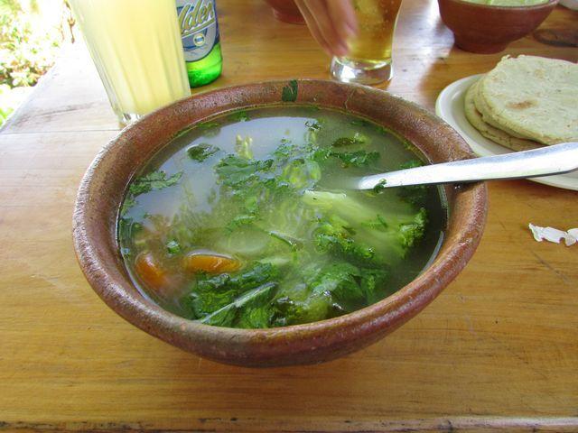 Sopa de gallina india, Restaurante El Escondite, Volcan de San Salvador, El Salvador