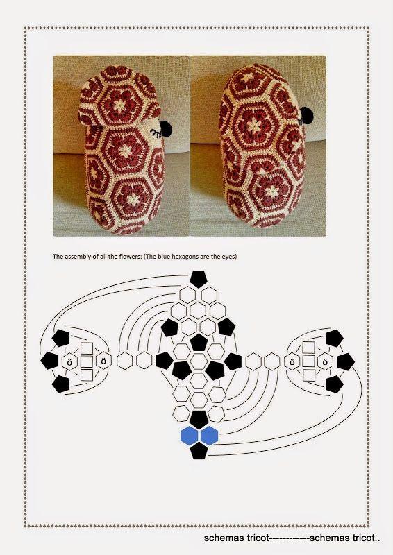 African Flower Dog Pattern 5/6