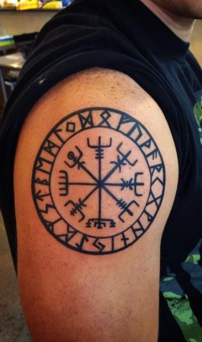 Vegv sir viking nordic compass tattoos pinterest for Nordic tattoos and meanings