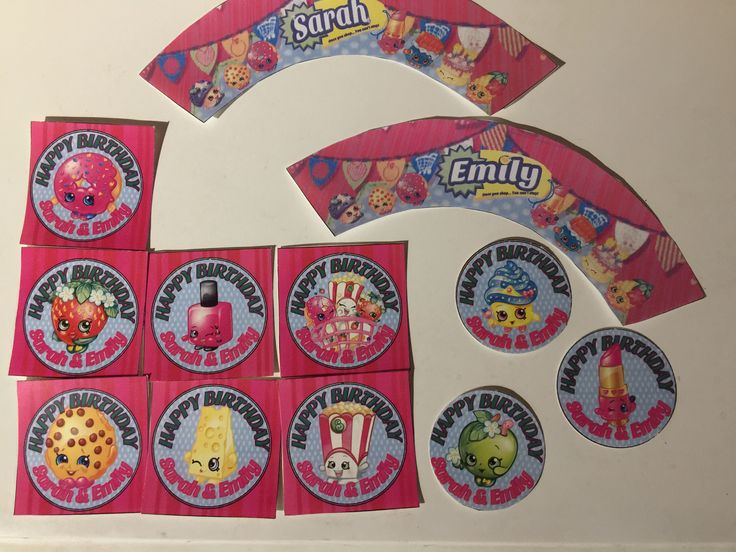 Printables Shopkins cupcake toppers and wrappers