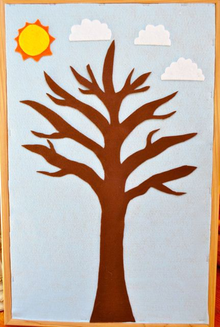DIY Felt Board for Teaching Seasons and Weather - Start with the Tree