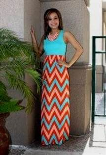 Awesome mint and coral chevron maxi dress 2018/2019 Check more at http://myclothestrend.com/dresses-review/mint-and-coral-chevron-maxi-dress-20182019/