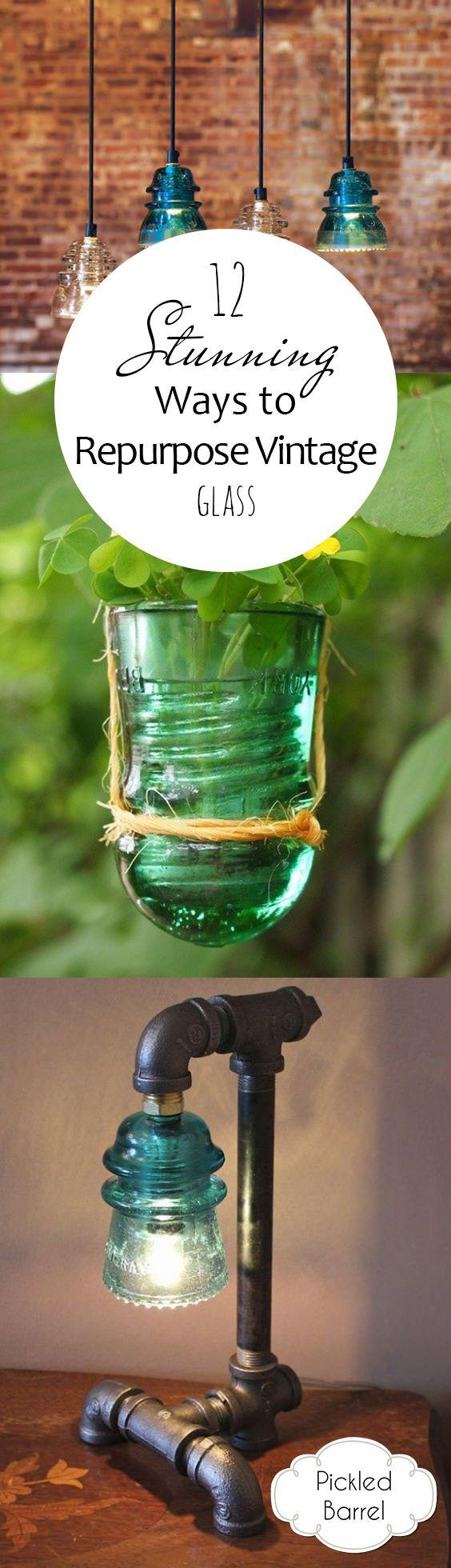 12 Stunning Ways to Repurpose Vintage Glass