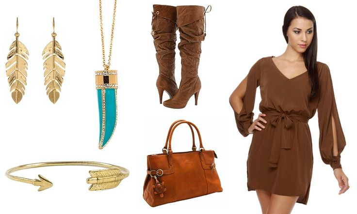 Modern Day Pocahontas outfit