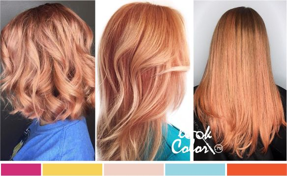 Модный цвет волос: холодный оранж