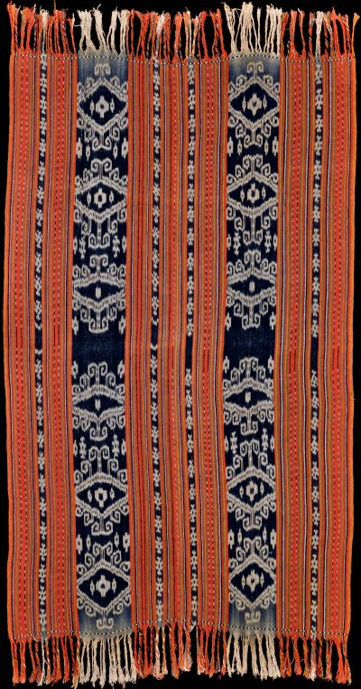 Ikat beti naik (blanket), East Timor, Indonesia, 1960