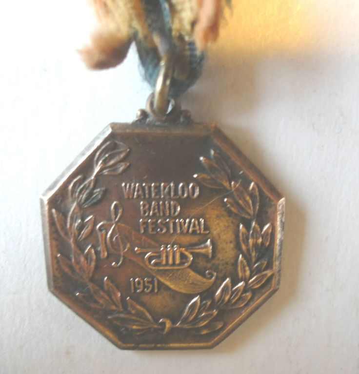 Music Band Fesitival Vintage 1951 Medal, Waterloo Band Festival by  Birks