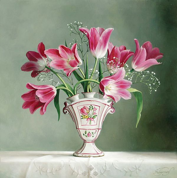 Flower Masterpieces by Pieter Wagemans Read more at: http://www.beautifullife.info/art-works/flower-masterpieces-by-pieter-wagemans/