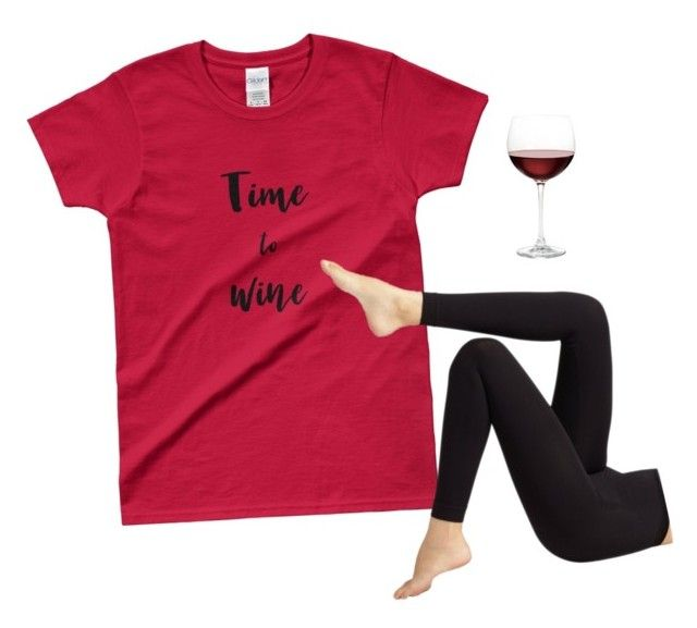 """""""TIME TO WINE tee"""" by melissa-lewis-4 on Polyvore featuring Wolford and Nordstrom"""
