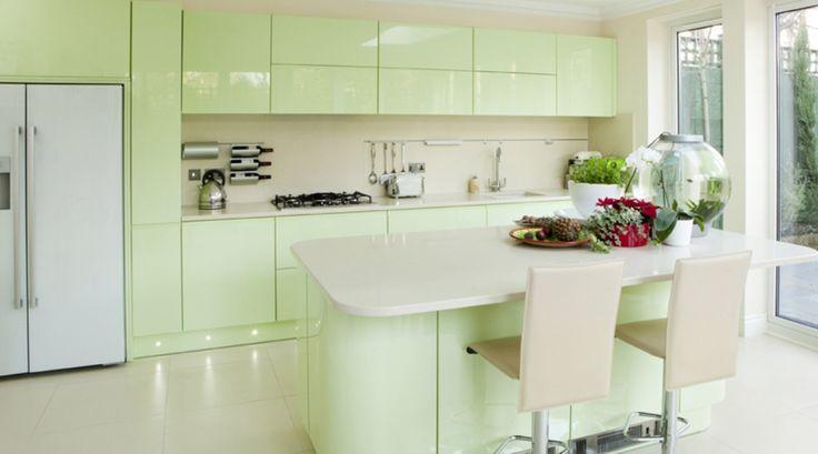15 Soft Pastel Colored Kitchen Design Ideas   Rilane - We Aspire ...