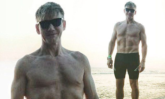 The TV chef, 50, sent temperatures soaring once again but this time for his hunky physique when he shared a shirtless picture on Instagram on Saturday.