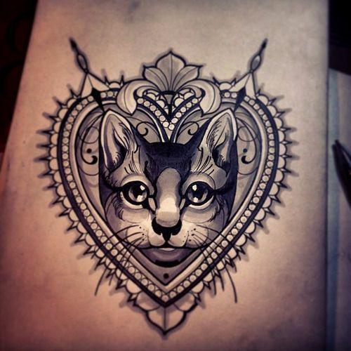 Epic Pet Portrait Tattoos - Multicolored Kitty | Guff