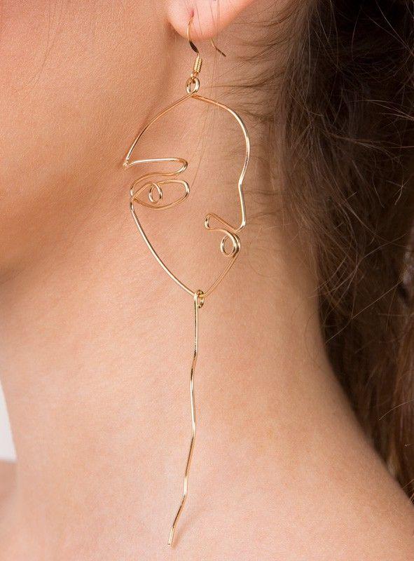Vasilios Face Earrings