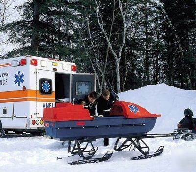 All terrain rescue sled for atvs snowmobiles emergency