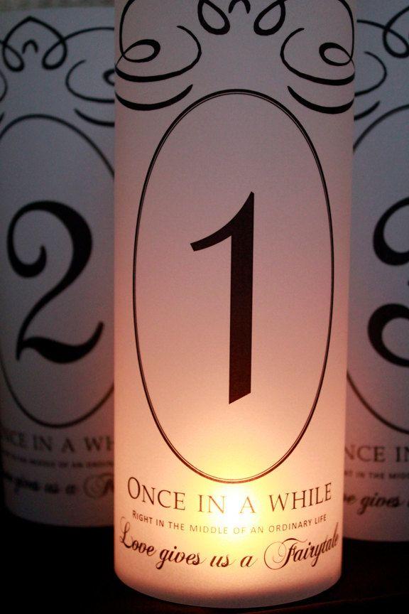 Table Numbers Fairytale Wedding Fairytale Table by SweetSights, $35.00