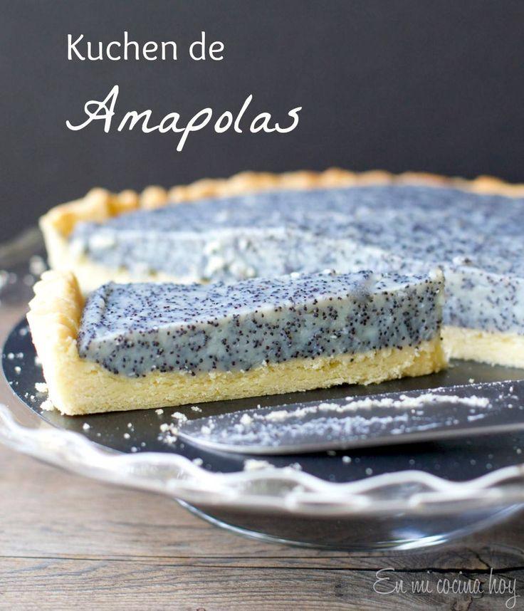 El kuchen de amapolas es tradicional en el sur de Chile, donde hubo mucha…
