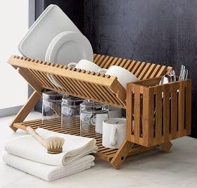 Bamboo Dish Drying Rack | Design Boner: Hand Wash Only