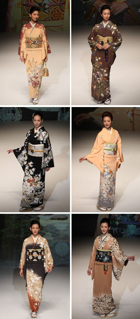 """Never thought that it was this difficult to find a decent pic of real kimono worn by decent models. Don't google with keywords """"Japanese kimono"""". What you'll see is a bunch of crappy fake & silly kimono lookalikes."""