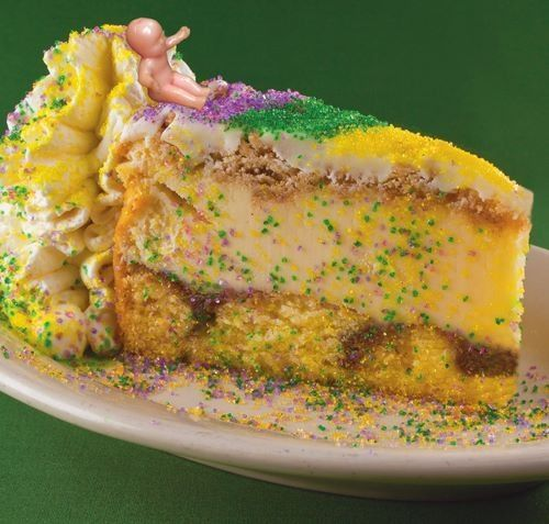 Copeland's King Cake Cheesecake