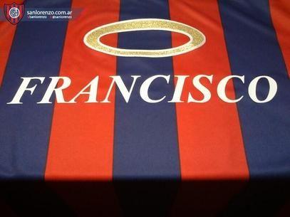 Francisco name in San Lorenzo de Almagro shirt.