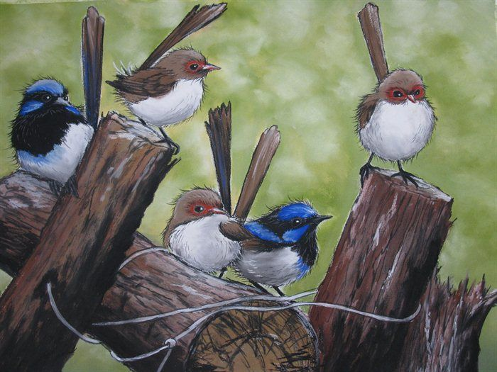 fauna - Little Gathering by Sally Ford