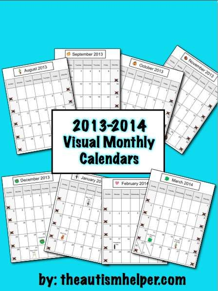 Weekly Calendar Autism : Best images about schedules for children with autism
